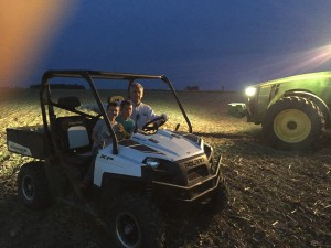 Grandpa and the boys scouting ahead for frost damaged soybeans... and loving every minute!