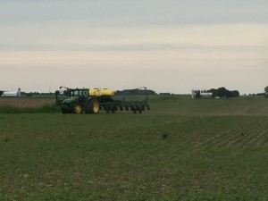 Steven putting the raps on soybean replant 16